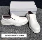 cipele mesarske , bele