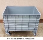 Box posuda 270 lit - točkovi